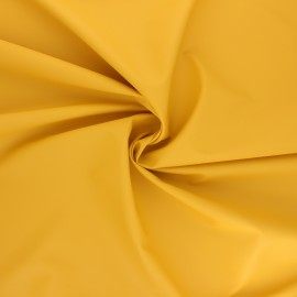 Tissu enduit spécial ciré Ula - jaune moutarde x 10cm