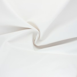 Imitation leather fabric - white Crowny x 10cm