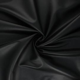 Tissu simili cuir souple Crowny - noir x 10cm