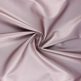 Imitation leather fabric - pink Crowny x 10cm