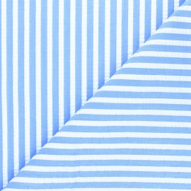Striped seersucker fabric - blue Augustin x 10cm