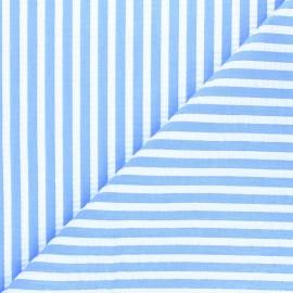 Tissu seersucker rayé Augustin - bleu clair x 10cm