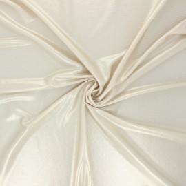 Metallic jersey fabric - golden Party night x 10cm