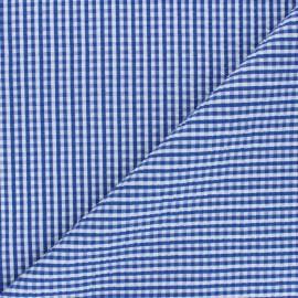 Tissu seersucker vichy Morgan - bleu x 10cm
