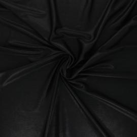 Metallic jersey fabric - black Party night x 10cm