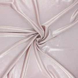 Metallic jersey fabric - pink Party night x 10cm