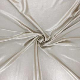 Metallic jersey fabric - sand Party night x 10cm