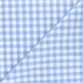 Tissu flanelle vichy Gabin - bleu clair x 10cm