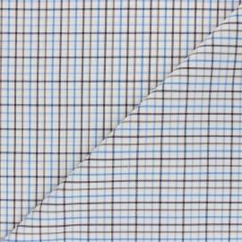 Tissu flanelle à carreaux Arthur - écru x 10cm