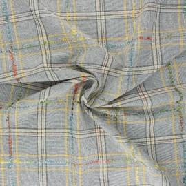 Tissu polyviscose lurex Ennis - jaune x 10cm