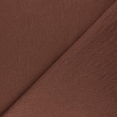Tissu Mind the Maker sweat bio Basic - marron x 10 cm