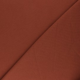 Mind the Maker Organic sweatshirt fabric - rust Basic x 10 cm