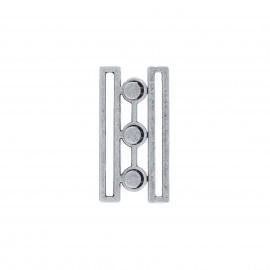 Metal belt clasp - silver Louisiane