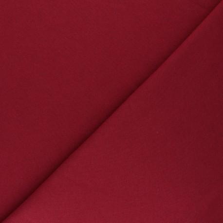 Mind the Maker Organic sweatshirt fabric - dark red Basic x 10 cm