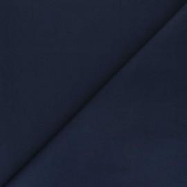 Plain percale cotton fabric - navy blue Care x 10cm