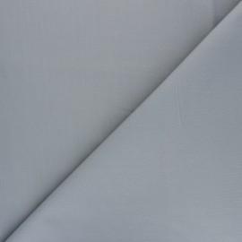 Plain percale cotton fabric - grey Care x 10cm