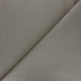 Plain percale cotton fabric - taupe Care x 10cm