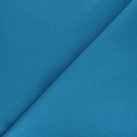 Plain percale cotton fabric - duck blue Care x 10cm