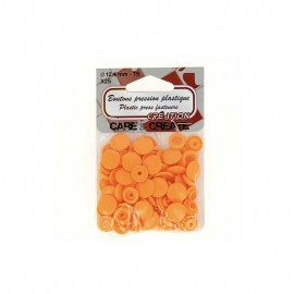 25 round snap-buttons - orange Colora