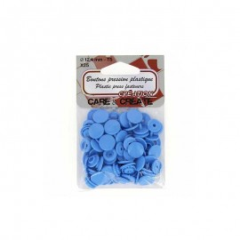 25 round snap-buttons - blue Colora