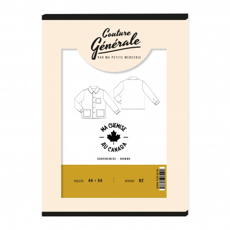 Overshirt sewing pattern Couture Générale - Ma chemise au Canada