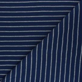 Cloud 9 Jersey fabric Knits - navy blue Stripes x 10cm