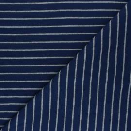 Tissu jersey Cloud 9 Knits Stripes - bleu marine x 10cm