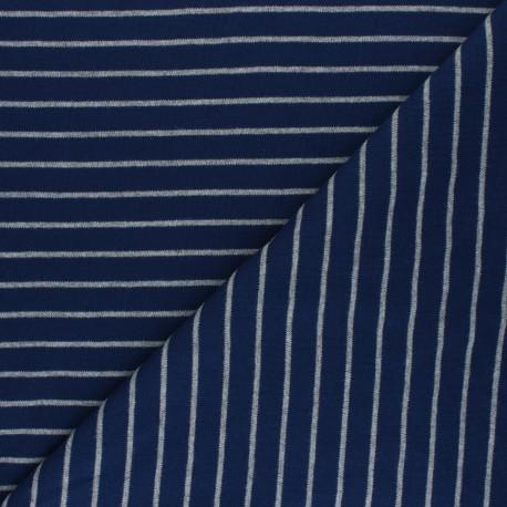 Cloud 9 Jersey fabric Knits - navy blue Stripes x 10cm