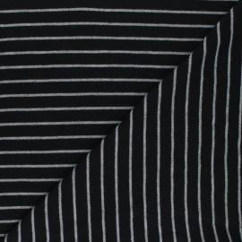 Tissu jersey Cloud 9 Knits Stripes -noir x 10cm
