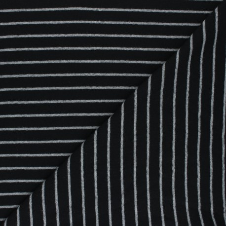 Cloud 9 Jersey fabric Knits - black Stripes x 10cm