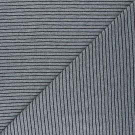 Tissu jersey Cloud 9 Knits Little stripes - gris chiné x 10cm