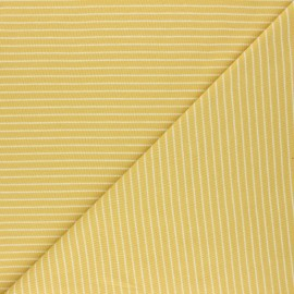 Cloud 9 Jersey fabric Knits - yellow Little stripes x 10cm