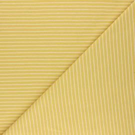 Tissu jersey Cloud 9 Knits Little stripes - jaune x 10cm