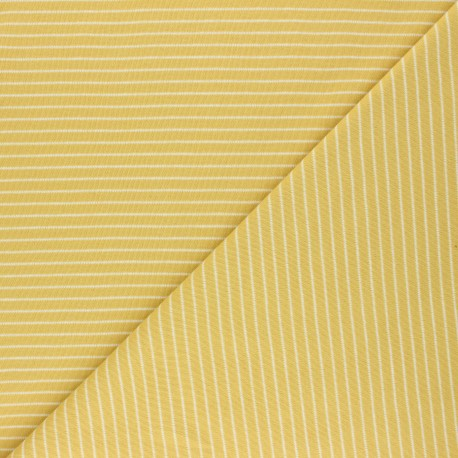 Cloud 9 Jersey fabric Knits - yellow Little stripes x 10cm