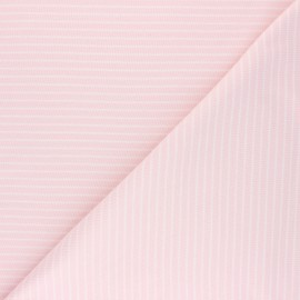 Cloud 9 Jersey fabric Knits - baby pink Little stripes x 10cm