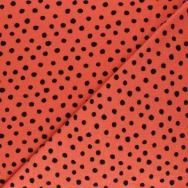Tissu jersey Cloud 9 Knits Dots - corail x 10cm