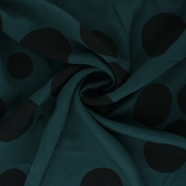 Mind the Maker Viscose fabric - Pine Green About a Dot x 10 cm