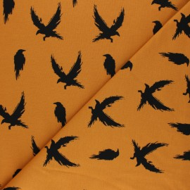 Bloome Copenhagen cotton jersey fabric - honey Crows x 10 cm
