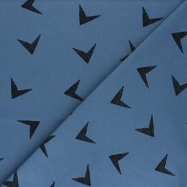Tissu jersey Bloome Copenhagen Arrows - bleu saphir x 10cm