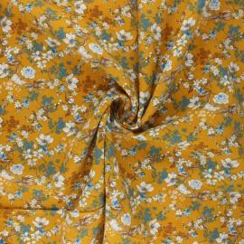 Tissu viscose Anais - jaune moutarde x 10cm