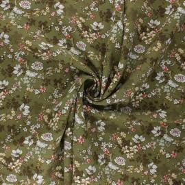 Tissu viscose Anais - vert kaki x 10cm