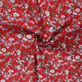 Tissu viscose Anais - rouge x 10cm