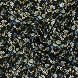 Tissu viscose Anais - noir x 10cm