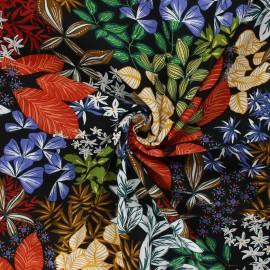 Viscose fabric - black Nolwenn x 10cm