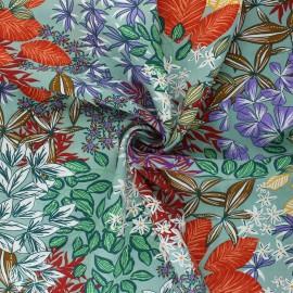 Tissu viscose Nolwenn - vert sauge x 10cm
