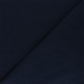 Mind the Maker Jersey jacquard fabric - midnight blue Leaf x 10 cm