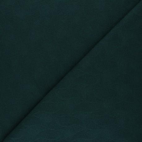 Mind the Maker Jersey jacquard fabric - pine green Leaf x 10 cm