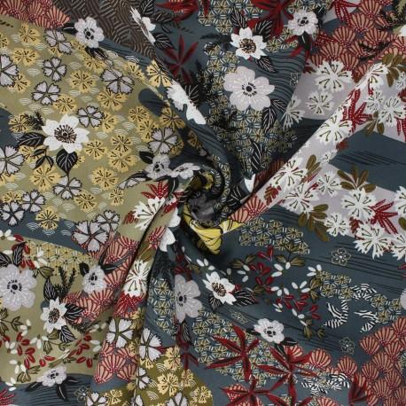 Viscose fabric - grey Ayo x 10cm