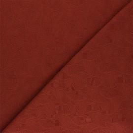 Tissu Mind the Maker jersey jacquard Leaf - rouille x 10 cm