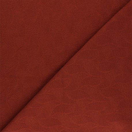 Mind the Maker Jersey jacquard fabric - rust Leaf x 10 cm